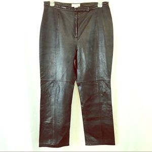 CROFT & BARROW 100% Lambskin Leather Pants 16